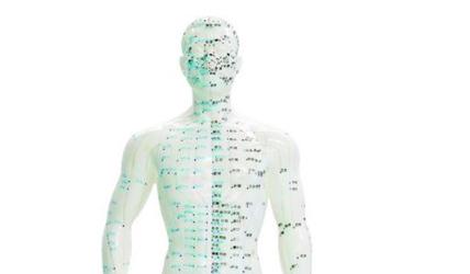 Meridianos en acupuntura e imágenes infrarrojas.