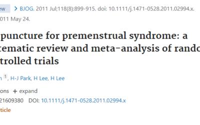 El Síndrome Premenstrual, los puntos más usados.